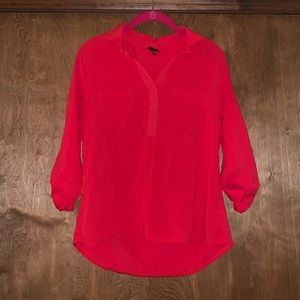 Merona red blouse